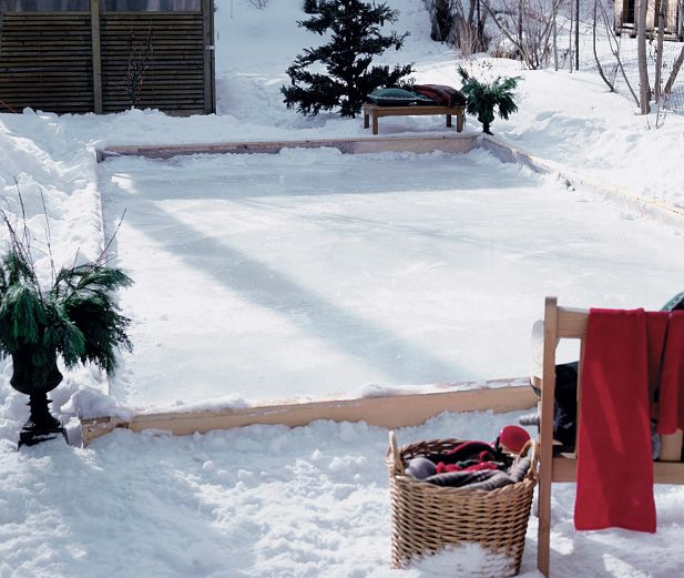 Backyard Ice Rink Diy : Backyard Ice Skating Rink  Winter + Christmas  Pinterest