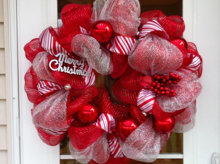 Christmas wreath wreaths pinterest