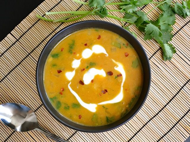 Spicy Pumpkin Soup With Cilantro Pepita Pesto Recipes — Dishmaps