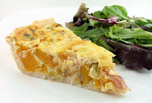 Roasted Butternut Squash, Prosciutto, and Sage Quiche, a recipe on ...