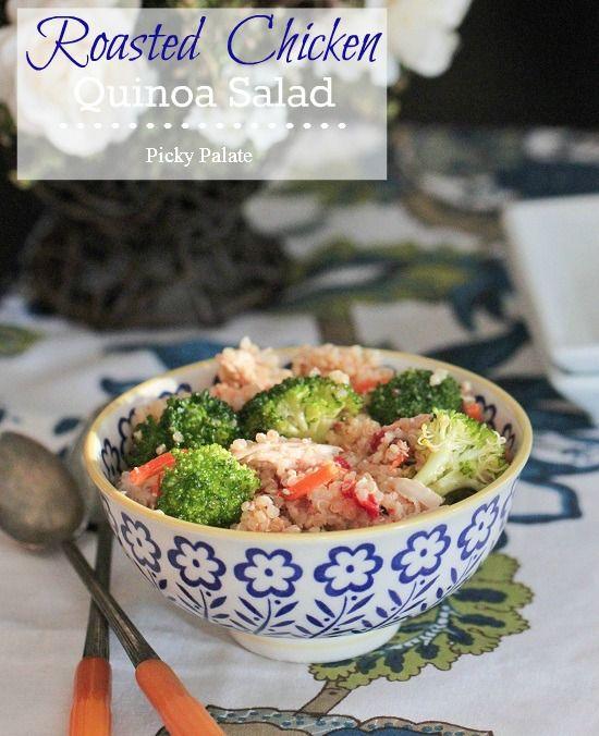 Roasted Chicken Quinoa Salad - Picky Palate