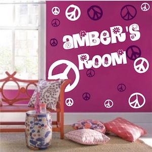Peace Sign Wall Decals - From Trendy Wall Designs