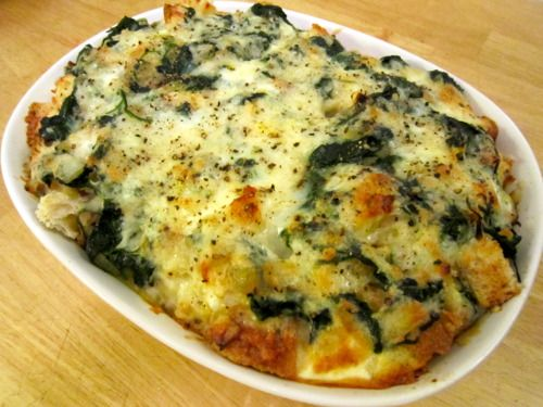 Spinach and Cheese Strata | Recipe cookbook | Pinterest