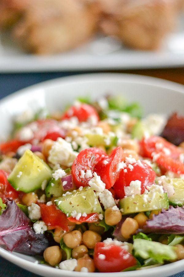 Greek-Style Chickpea Salad   Eats--Salad   Pinterest