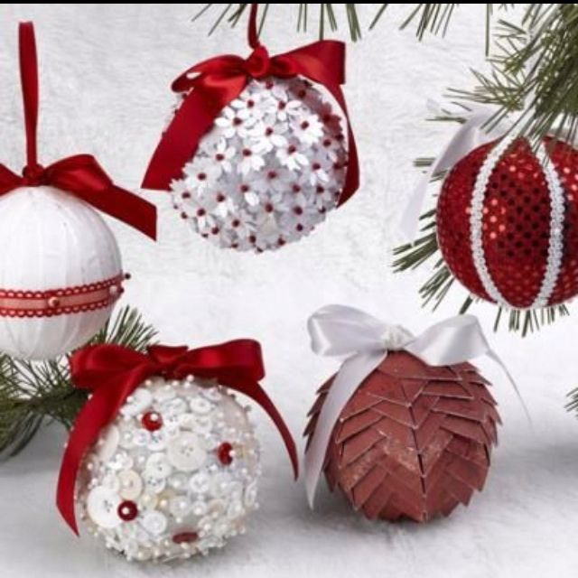 Homemade ornaments using styrofoam balls how i love for Homemade christmas decorations