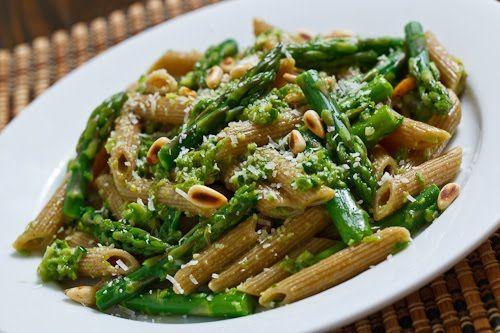 Asparagus and Ramp Pesto Pasta | Recipe