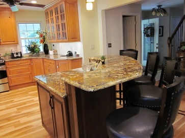 Two tiered kitchen islands two tiered island design ideas pictures