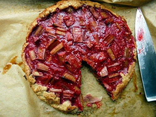 rhubarb and raspberry crostata | Food!!! | Pinterest