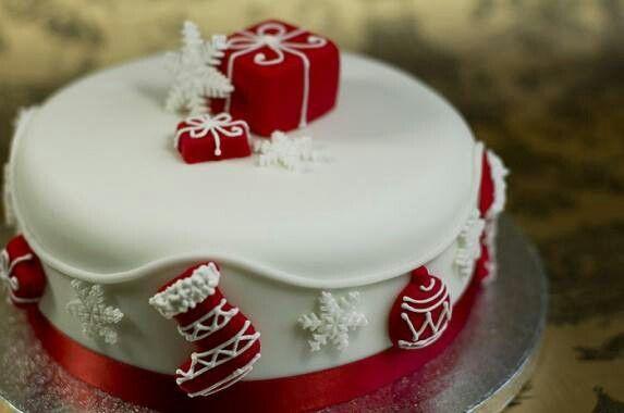 Cute Christmas cake. X-mas Pinterest