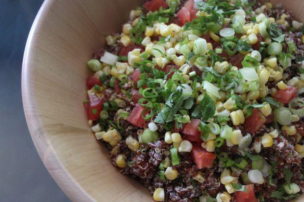 Grilled Corn and Quinoa Salad - Peruvian recipes