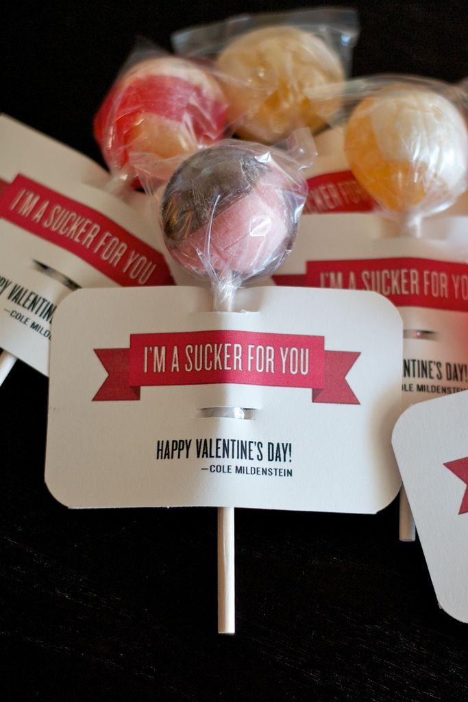 Sucker label--Valentine's Day