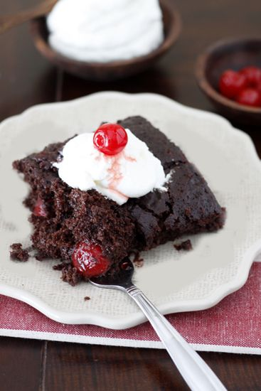 Chocolate Cherry Cola Dump Cake