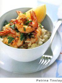 Citrus Risotto with Garlic-Chile Prawns | Recipe