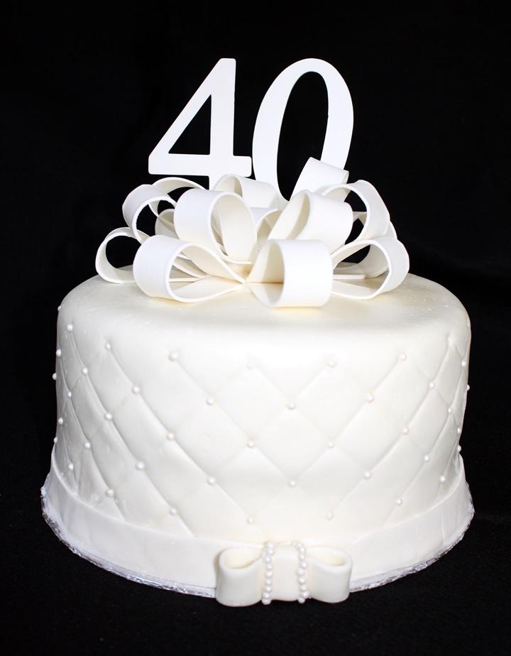 40th anniversary cake 40th anniversary cake ideas pinterest