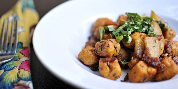 Sweet Potato Gnocchi with Apples, Bacon & Balsamic | the pig & quill ...