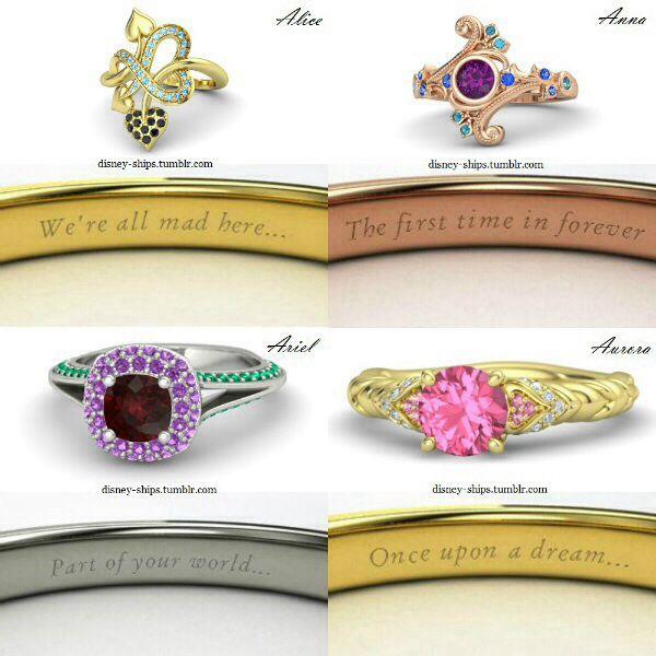 disney princess rings pretty stuff
