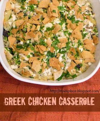 Greek Chicken Casserole | Casseroles & One Pot Dinners | Pinterest