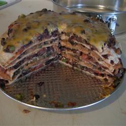 Seven Layer Tortilla Pie | Recipe
