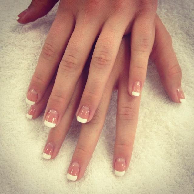 Natural nails painted French :)