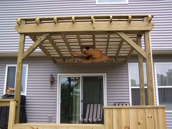 pergola ceiling fan | For the Home | Pinterest