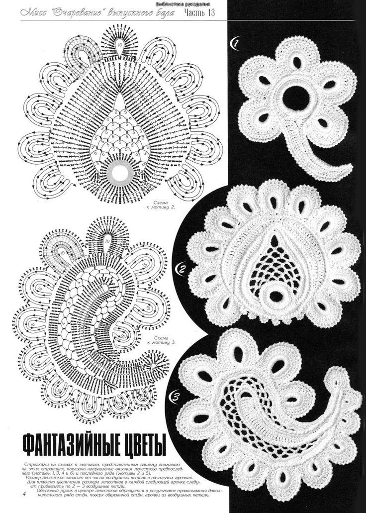 Irish Crochet Lace Motifs Free Patterns : Irish crochet motifs modele irlandeze Pinterest