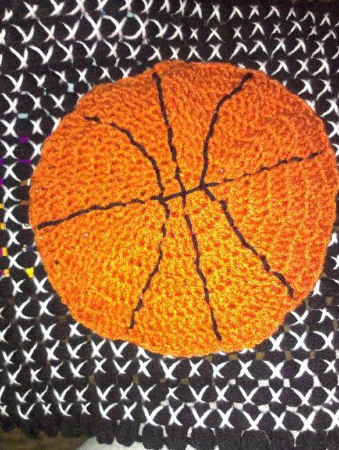 Crocheted basketball for a blanket CROCHET Pinterest