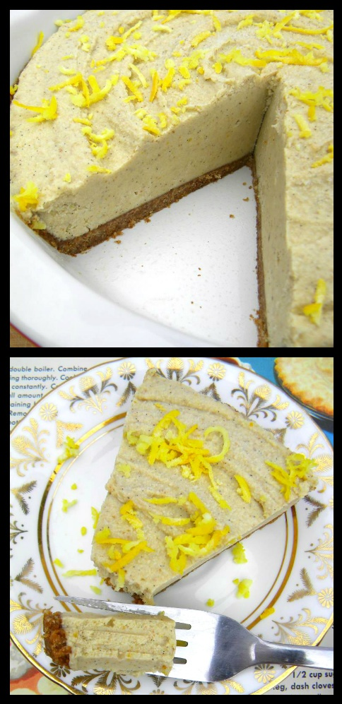 Raw Meyer Lemon Cream Pie. This was very labor intensive and I had to ...