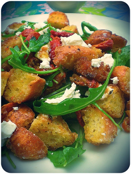 Panzanella (Bread Salad) soo many variations of this.. so easy and ...