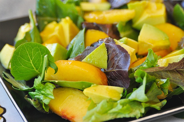 Avocado and Peaches Salad. Quick and delicious way to use those ...