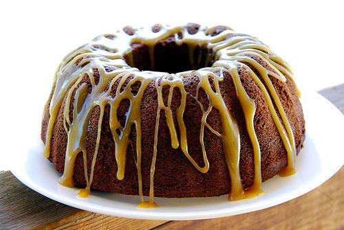 Chocolate Bundt Cake with Caramel Glaze (Gluten/Grain-Free)
