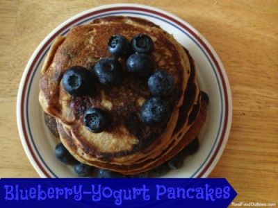 Blueberry-Yogurt Pancakes, instructions for soaked method included