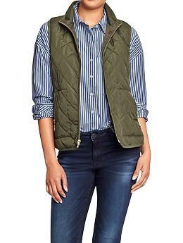 Old Navy Women's Quilted Zip-Front Vest
