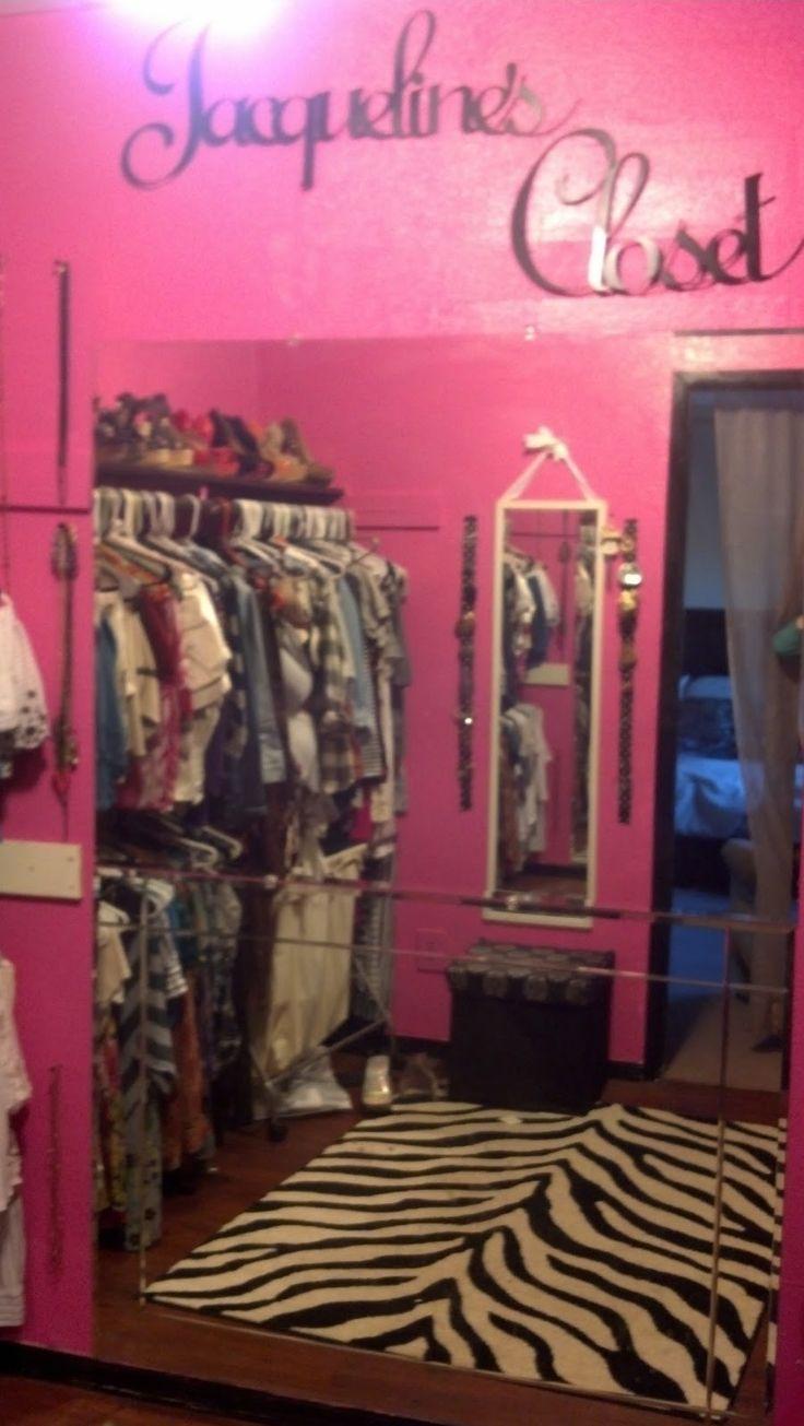 My Pink And Black Walk In Closet Love Blogs Pinterest