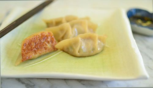Simple Shrimp and Pork Pot-Stickers from The Little Ferraro Kitchen