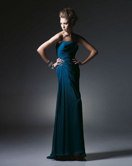 Midnight blue bridesmaid dresses wedding ideas pinterest for Midnight blue wedding dress