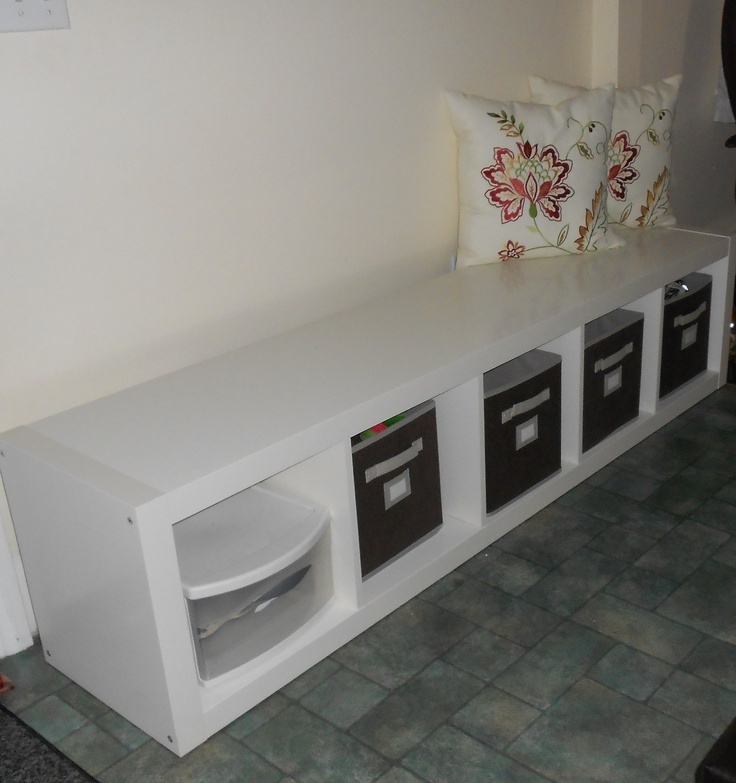 Eckbank Kunstleder Schwarz Ikea ~ ikea meets martha stewart Ikea expedit shelf+ martha's fabric bins+