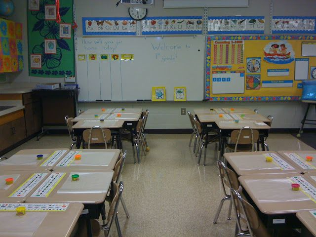First day of school! Students receive play dough and a writing paper ...