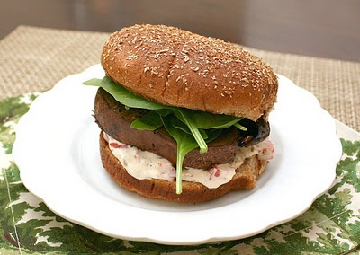 ... DAY: Meatless Monday--Roasted Portobello and Goat Cheese Sandwich