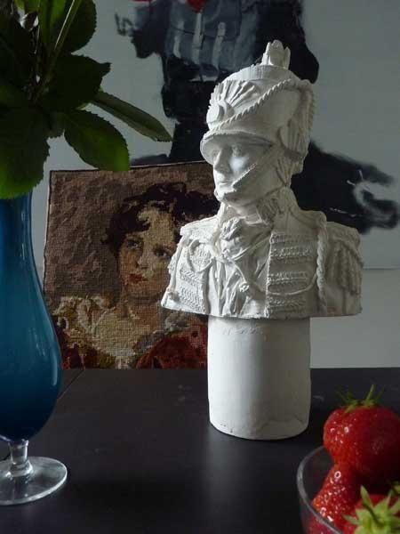 plaster bust by Kathy Dalwood  via remodelista