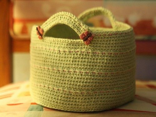 Free Crochet Basket Pattern.. Crochet Pinterest