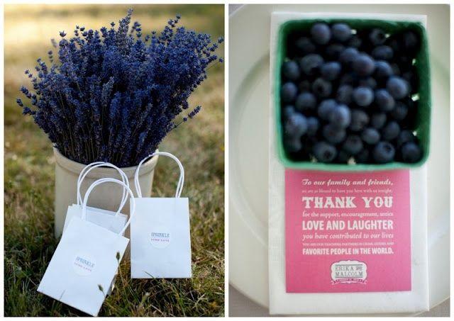 Lavender & Blueberries wedding favours
