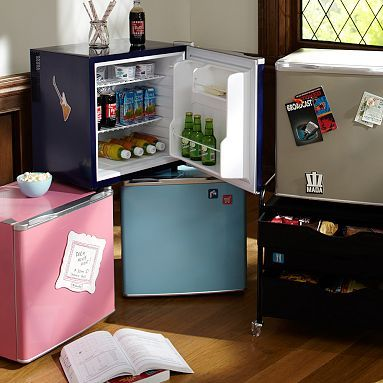 Supercool Fridge, a College Essential. (Via @PBteen www.pbteen.com)