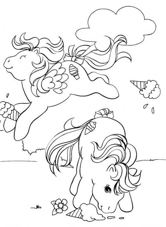 My Little Pony G1 Coloring Pages : Mon petit poney my little pony para colorir pinterest