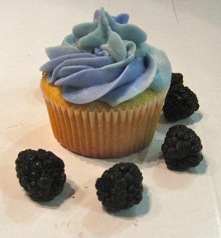 Lemon Blackberry Cupcake | [TUTO INSPIRATIONS] Mûres*Blackberries | P ...