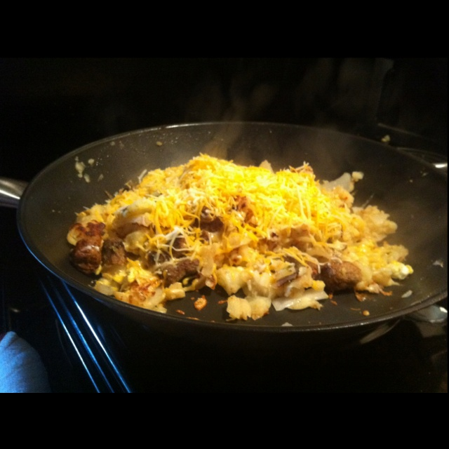 Cheesy hash brown sausage egg skillet... | the Fantastical world of f ...