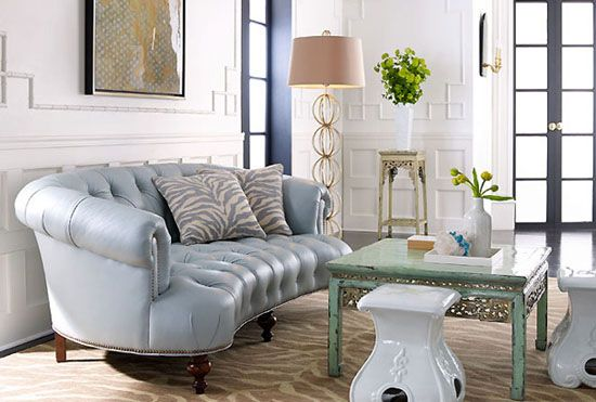Best Baby Blue Tufted Leather Sofa Living Pinterest 640 x 480