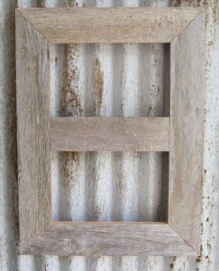 Full Trend Rustic Picture Frames : Barn Wood Reclaimed Rustic Style Double Photo Picture Frame (Many ...