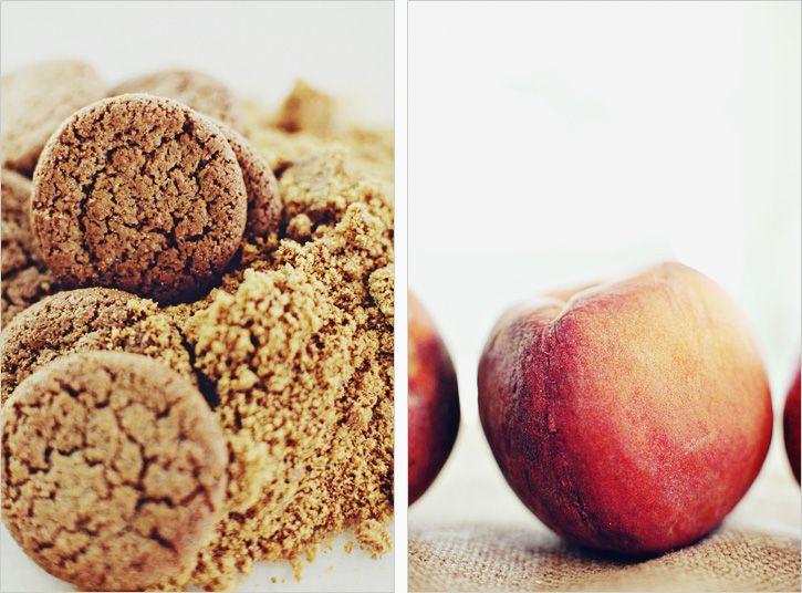 peach creme with a gingersnap crust | S W E E T | Pinterest