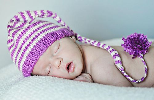 Easy Knitted Infant Elf Hat