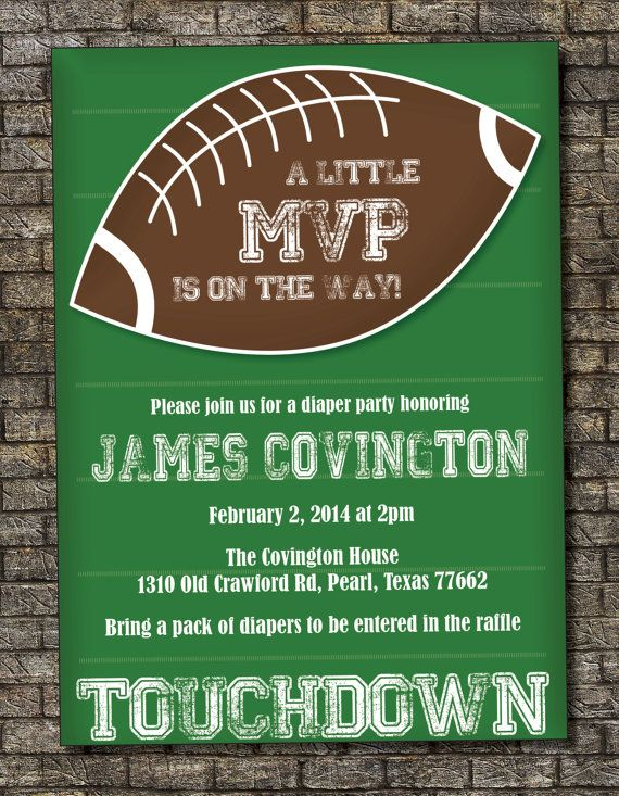 football baby shower invitation baby boy couples shower invitation